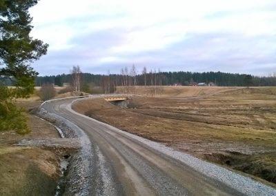 Sillanrakennus tie- ja maa-alueineen, Pöytyä